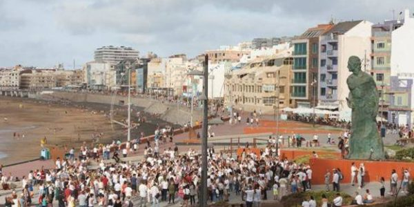 Demonstration in Gran Canaria am 16.08.2020